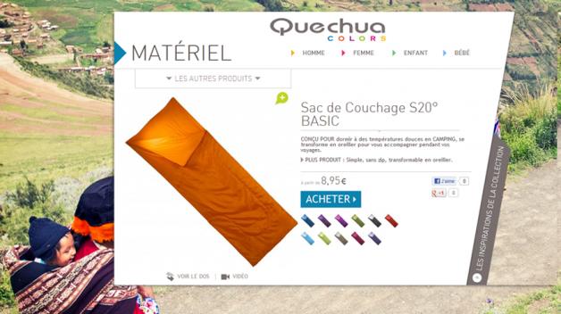 Quechua colors - sacs de couchage