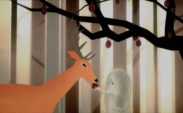 la fillette et le cerf