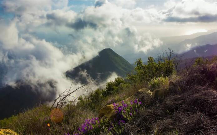 photo paysage de montagne