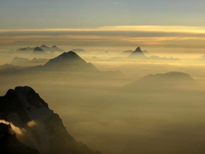 ciel de montagne