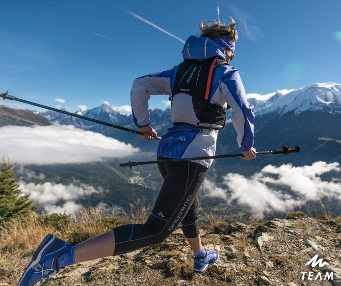 Emilie Lecomte mountain trail Quechua