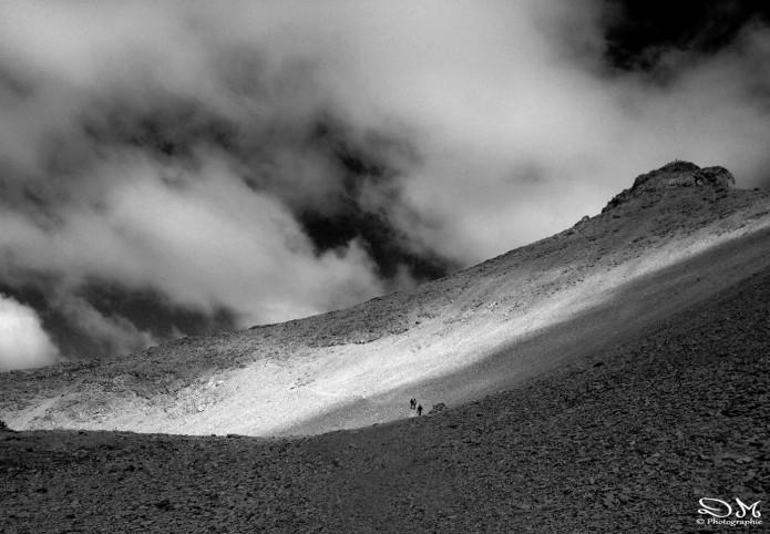 Arrivée sous Le Mont Pelat alpes du sud david molliet