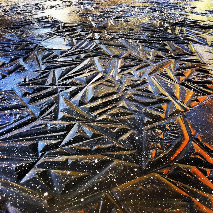 10_Geometric Pond Ice In Southern Oregon, USA