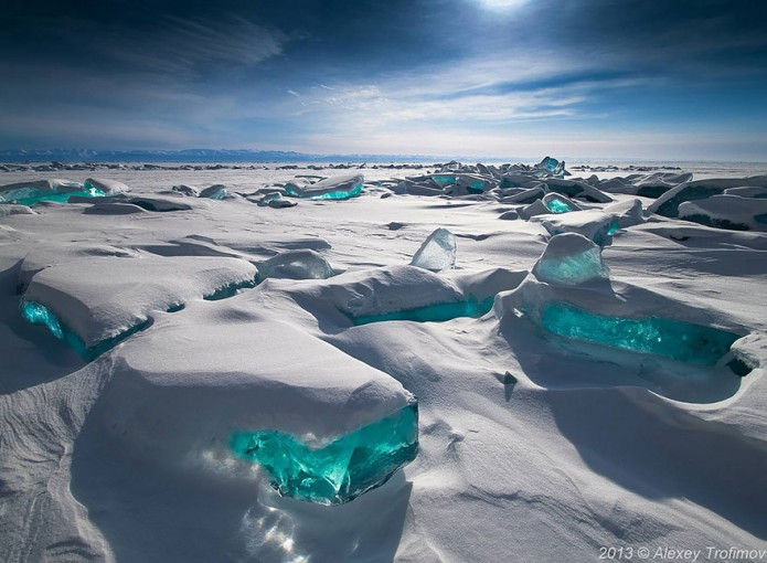 2_Emerald Ice On Baikal Lake, Russia