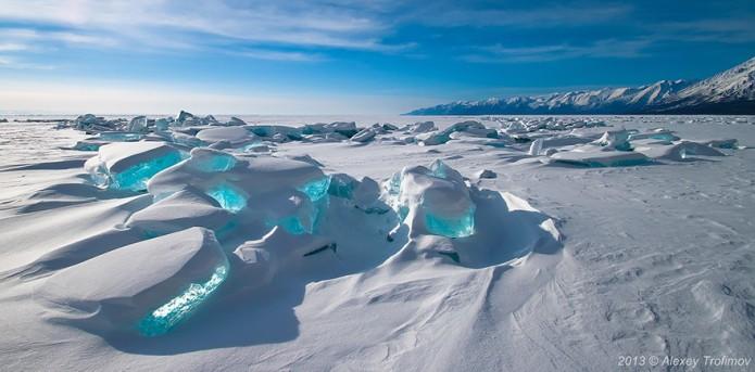 3_Emerald Ice On Baikal Lake, Russia