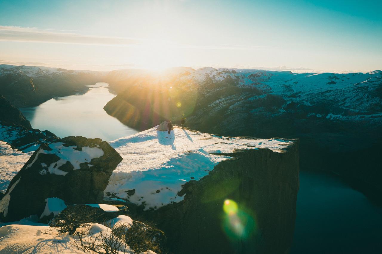Preikestolen en Norvège
