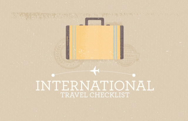 check-list pour partir en voyage
