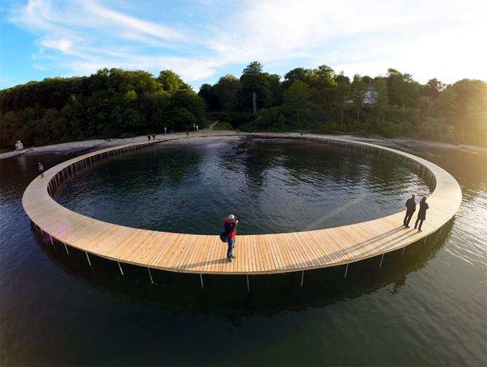 Pont Infini - © aarhus I billeder  - The Infinite bridge sculpture - Gjode & Povlsgaard