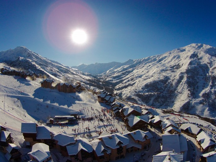 Valemeinier station ski aux pieds