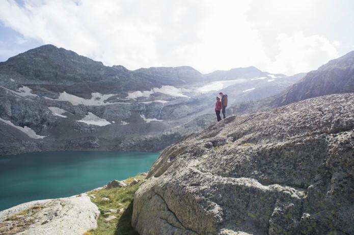 Lac de Portillon, tournée des refuges de montagne Facteurs Chevaux