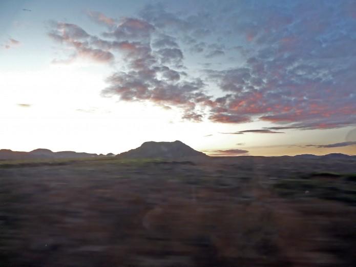 Soleil de Minuit au nord de l''Islande