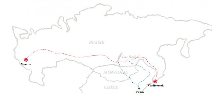 Transsiberien itineraire