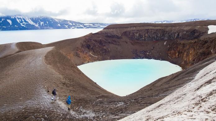 Lac volcan Islande